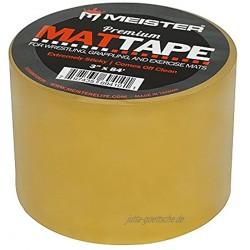Meister Premium Matten-Klebeband für Wrestling Ringen und Übungsmatten- transparent