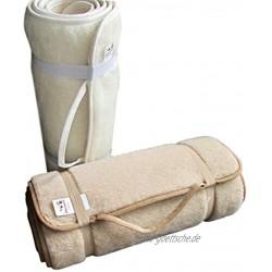 Alpenwolle Sportmatte rutschfest Yogamatte,Gymnastikmatte Fußmatte,Bettteppich 100% Wolle beige 75x180 cm