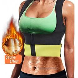 Litthing Damen Saunaweste Trainingsweste Korsett Training Taillenkorsett Neopren Shirt Top Fitness Taillenmieder für Sport Workout