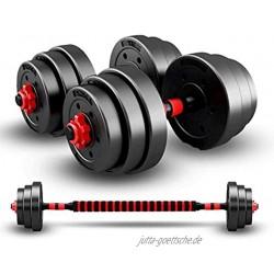 HomeMagic Kurzhantel-Set 20 kg Hantelgewichte-Set verstellbar für Damen und Herren massives Kurzhantel-Set für Heim-Fitness 10