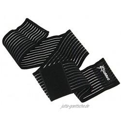 SiaMed 2X Sportbandage Gelenk-Bandagen Stützbandagen Gewichthebergürtel mit Klettverschluss Damen und Herren rechts und Links