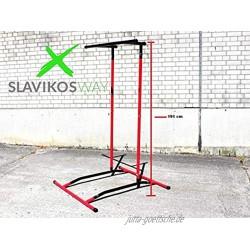 Slavikosway 9010019 Pull Up Station Klimmzug Stange Liegestütz Multi Workout Handstand Schnellverschlüsse