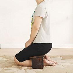 Gebetsbank Yoga Hocker aus Holz Kniesitz Meditationsbank für Tiefe Meditation für Eine Gesunde Aufrechte Körperhaltung